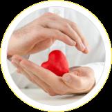 hand holding a heart shape