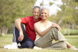 an old couple from exercise